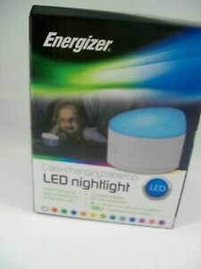 Night Light  Energizer Battery Operated Color-Changing Tabletop LED White