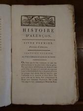 Gautier, Histoire d'Alençon, 1805, incomplet, Orne