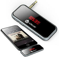 iClever Wireless 3.5mm In-Car FM Transmitter Audio Music Hands-free Android/iOs