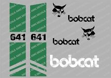 BOBCAT 641 SKID STEER DECAL STICKER SET