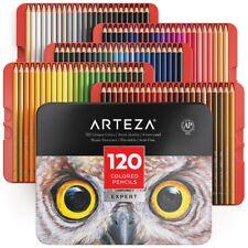 Arteza Professional Coloured Pencils for Adults & Kids, Set of 120, Portable Tin