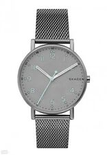BRAND NEW SKAGEN SKW6354 SIGNATURE GREY DIAL STAINLESS STEEL MESH QUARTZ WATCH