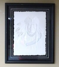 """CAST PAPER ART """"THE TRAPPER"""" BY NORMAN L. FORTIN LIMITED EDITION CANADA ORIGINAL"""