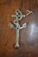 Solid brass antique style nautical ships anchor coathook wall hook hanger 2017