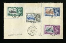 St Lucia KGV 1935 Silver Jubilee set SG109/12 used on registered FDC