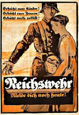 Art Ad German  Reichswehr Propaganda Recruitment War  Poster Print