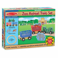 Melissa And Doug Wooden Zoo Animal Train Set NEW Toys Fun Kids