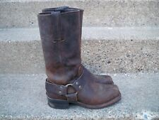 Frye 87350 Harness 12 R Brown Leather Men's Motorcycle Engineer Boots Size 7 M