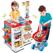 Kids Supermarket Shop Play Role Set Children Superstore Trolley Till Scanner Til