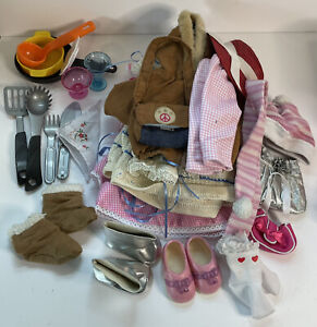 """Huge Lot 18"""" Doll Clothes And Accessories Fits American Girl OG & More Kitchen"""