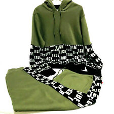 True Religion Men's Green Pullover Hoodie Sweat Suit Set Size XXL