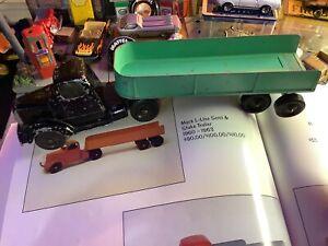 1960 Tootsie Toy Mack L-Line Semi And Stake Trailer HTF