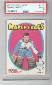 1971 OPC O-Pee-Chee PSA 9 MINT Bernie Parent # 131 Toronto Maple Leafs