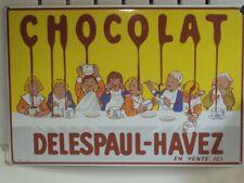 Carton CHOCOLAT DELESPAUL-HAVEZ très bon état 60 x 40 cm