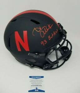 Trev Alberts Nebraska Eclipse Signed Autographed Full Size Helmet INSCRIBED