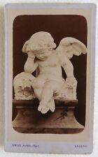 CDV PHOTO EMILE PARIS à AMIENS sculpture ange pleurant E709