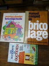 Lot de 3 livres manuel complet du bricolage  recettes simples bricolage .....