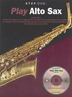 PLAY ALTO SAX  STEP ONE - SAXOPHONE BOOK + CD SET