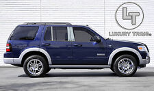 Ford Explorer Chrome Pillar Post w/o Keypad Cutout by Luxury Trims 2002-2010 6pc