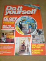 DO IT YOURSELF MAGAZINE - BLOCK WALL April 1981