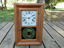 Antique Seth Thomas clock Co. small Ogee 30 hour clock, key wind, made 1800's