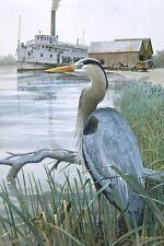 """Great Blue Heron"" Tom Freeman Wildlife Artist Proof"