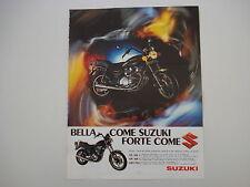 advertising Pubblicità 1981 MOTO SUZUKI GS 550 L