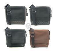 Coach Mens (F68015 F73339) Houston Map Leather Crossbody Bag Handbag