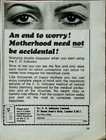 C. D. Indicator Motherhood Need Not Be Accidental! Vintage Advertisement 1969