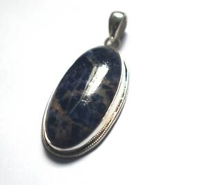 Natural Black Turquoise Gemstone Pendant 925 Sterling Silver Jewelry Pendant