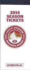 Ticket Stubs Stub San Francisco 49ers 2014 New Mint