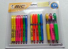 SET OF 15 BIC HIGHLIGHTERS VERY HIGH QUALITY! BIC HIGHLIGHTERS VARIOUS TYPES