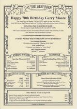 Parchment Scroll of The Day You Were Born, Super Gift All Birthdays 1900-2017
