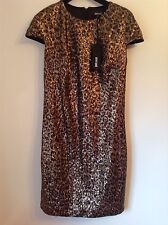 BNWT 100% Auth Just Cavalli, Stunning Sexy Black & Gold Sequinned Dress. L