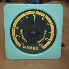 Antique Vintage Steampunk Collectors Gauge Meter 0-25 MVARS 145mm black face