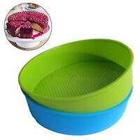 Silikonbackform Rund 26 cm Kuchen Backform Kuchenform Brotbackform Obstbodenform