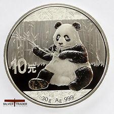 2017 30g Chinese Silver Panda 30 gram Silver Bullion Coin unc: