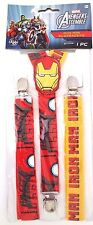 Marvel Comics Invincible Iron Man Men's Boy's Youth Superhero Suspenders 14+ NWT