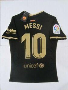 NIKE LIONEL MESSI FC BARCELONA LA LIGA VAPOR MATCH BLACK AWAY JERSEY 2020-2021