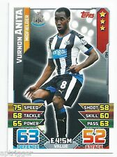 2015 / 2016 EPL Match Attax Base Card (194) Vurnon ANITA Newcastle