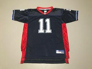 Drew Bledsoe #11 Buffalo Bills NFL Blue Red Reebok Football Jersey Youth Size XL