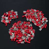 Flachsteckhülsen Set 0.5-1.5mm² Kabelschuhe 6,3x0,8mm Flachstecker isoliert Rot