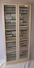 Fab! Shabby Chic Display Cabinet / Bookcase - Glazed Doors - Meredew