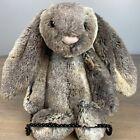 "Jellycat Woodland Babe Bunny Rabbit Bashful 12"" Soft Toy Brown Gray Plush"