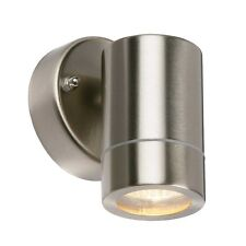 Saxby Palin Outdoor Wall Light Brushed Stainless Steel IP44 35W GU10 Reflector