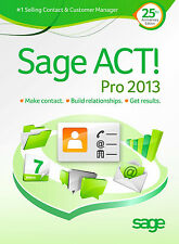 Sage ACT! Pro 2013 CRM - DOWNLOAD - Full Version - Quick Online Delivery