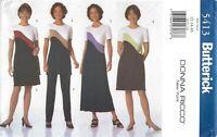 Butterick 5413 Color Blocked Dresses, Tunic, Skirt & Pants Sz 12-16 UNCUT OOP