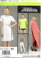 Simplicity Pattern 8094, Project Runway, 4 - 12,Tunic, Shorts, Knit Leggings New