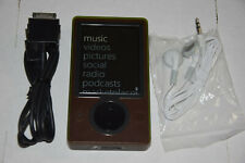 Microsoft Zune 30 Gb Brown Wi-Fi Fm Radio Aac Wma Mp3 Medi Player New battery Hd
