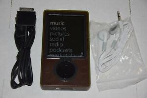 Microsoft Zune 30 GB Brown Wi-Fi FM Radio AAC WMA MP3 Medi Player New battery HD